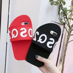 3D Silicone Flip Flop Shoe Slipper Phone Case Back Cover For