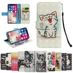 3D Vision Painted Pattern PU Leather Wallet Case For <font><