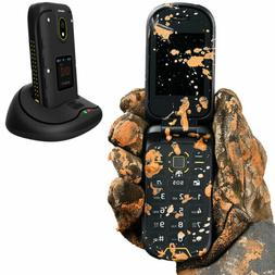 3G Rugged Waterproof Cell Phone Dual Display Flip Mobile Dus