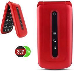 3G Unlocked Flip Cell Phone for Senior & Kids Dual SIM Card