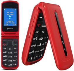 Ushining 3G Unlocked Flip Cell Phone for Seniors & Kids, Dua