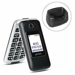 Ushining 3G Unlocked Senior Flip Phone Dual Screen Dual SIM