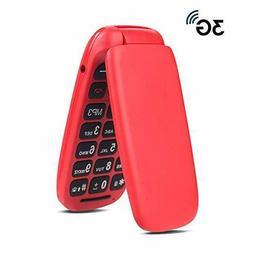 Ushining 3G Unlocked Senior Flip Phone Large Icon Cell Phone