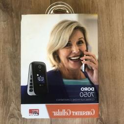 Doro 7050 Black/White  4G LTE GSM  Flip Phone -New