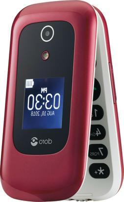Doro 7050 - DFC-0180 - Burgundy/White   Unlocked Flip Phone