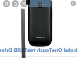 Alcatel 768   Flip Phone 3G -Black & Blue - Fast Shipping