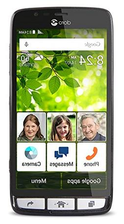 Doro 824 Senior-Friendly, easy-to-use Android Smartphone w/5
