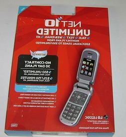 NET10 Unlimited LG 220C Flip Cell Phone