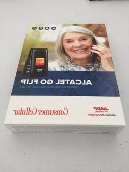 Alcatel go flip consumer cellular phone easy to use and bran