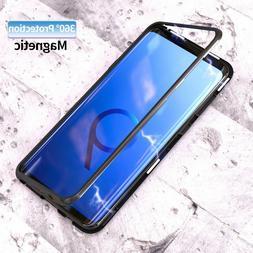 Aluminum Metal Magnetic Adsorption Flip Phone Case For Samsu