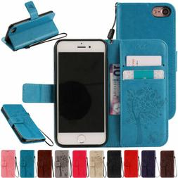 For Apple iPhone 8 7 6 6s Plus Flip Folio Leather Card Holde