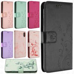 For Apple iPhone XS Max Premium Butterfly Wallet Case Pouch