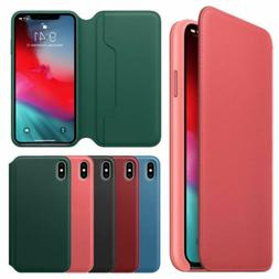 For Apple iPhone XS MAX XR New Luxury Leather Folio Flip Wal