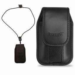 Around the neck Black case and lanyard fits Alcatel Jitterbu
