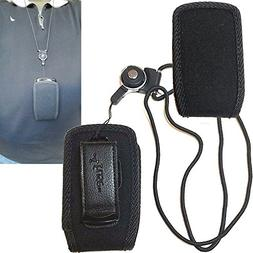 Around The Neck Hanging Lanyard Open Top Case for Kyocera Du