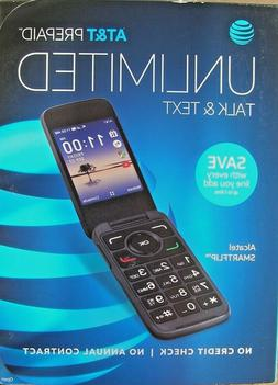 AT&T Alcatel Smartflip 4052R Prepaid Flip Cell Phone Easy to