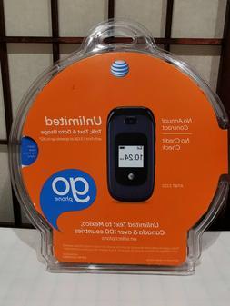AT&T Z222 GoPhone - Dark Blue  Cellular Phone NEW SEALED NIB