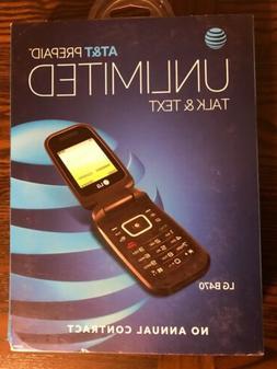LG B470 Black AT&T Flip Phone Brand New