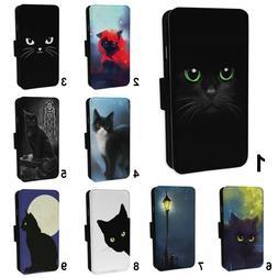 black cat designs flip phone case cover