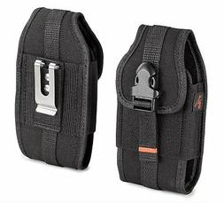 Black AGOZ Heavy Duty Rugged Belt Clip Loop Pouch Case Holst