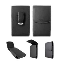Black Leather Case Pouch Holster with Belt Clip for Verizon