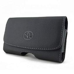 Black Leather Phone Case Cover Protective Pouch Belt Holster