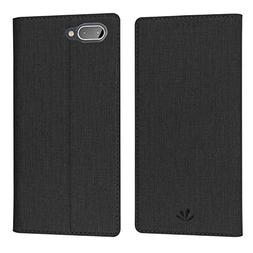 BlackBerry KEY2 Case,Mangix Premium Leather PU Flip Wallet C