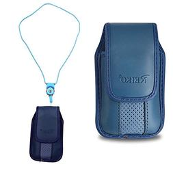 Blue around the Neck Hanging Lanyard Magnetic Top Case fits