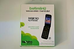 Brand New Cricket Wireless Alcatel Smart Flip Camera Phone S
