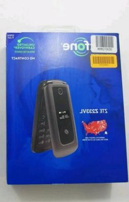 NEW ZTE Z233VL TracFone prepaid TFZEZ233VCGYPWP Gray Flip Ce