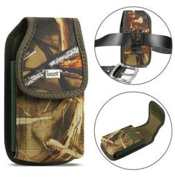 Camouflage Rugged Metal clip Camo Case fits Doro 7050 flip p