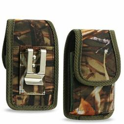 Camouflage Rugged Metal Clip Case fits Kyocera Dura XV LTE F