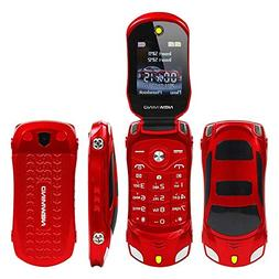 Sports Car Model F15 Mini Flip Phone Dual SIM Card Flashligh