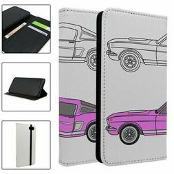 Car Pink Full Flip Case Cover For Mobile Phone - S2105