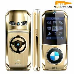 Car Shape Flip Mobile Phone Small Size 2G GSM Dual SIM Cards