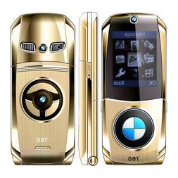 Car Shape Flip Small Cell Mobile Phone GSM 2G Dual SIM Cards