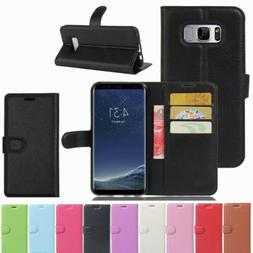 Card Holder Leather Flip Wallet Back Case Cover Stand For Sa