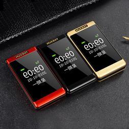 Tkexun Clamshell Mobile <font><b>Phone</b></font> Dual Displ
