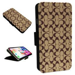 Coach New York Design - Flip Phone Case Wallet Cover - Fits