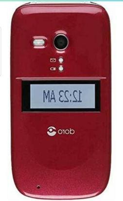 Consumer Cellular Doro PhoneEasy 626 - Burgundy & black Flip