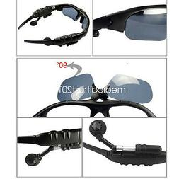 Cool Stereo Wireless Bluetooth Flip-up Sunglasses Music Head