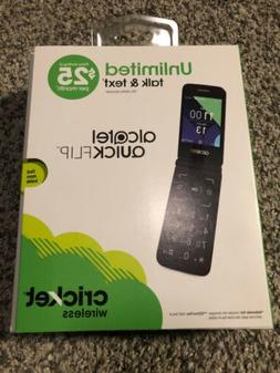 CRICKET ALcatel QUICKFLIP 4G LTE Flip Phone  Silver BRAND NE