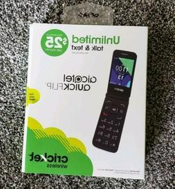 CRICKET ALcatel QUICKFLIP 4G LTE Flip Phone  Silver