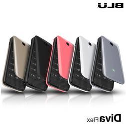 BLU Diva Flex 1.8'' 2G Cell Phone Flip VGA Unlocked Dual SIM