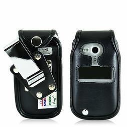 Doro PhoneEasy 626 Flip Phone Fitted Case Black Leather Meta