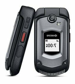 Kyocera DuraXE E4710T 8GB GSM Unlocked - Black Flip Phone Ru