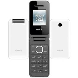 Hyundai E275 - White  Dual Sim Flip Phone