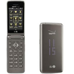 LG Exalt II | VN370 | 256MB - Black  Flip Cellular Phone
