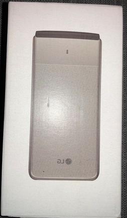 """LG - Exalt VN220 8GB - Silver  """"Unlocked"""" 4G LTE Flip Phone"""