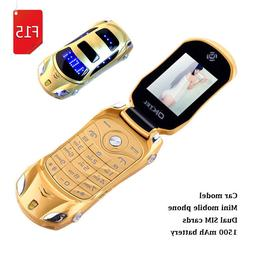 Newmind F15 Car Mini Cell Phone LED Light Dual SIM Flip GSM